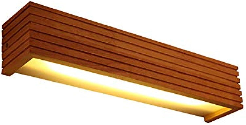GLP Moderne Minimalistische Led Nachttischlampe Nordic Persnlichkeit Kreative Treppe Gang Korridor Schlafzimmer Wandleuchte Wohnzimmer Wandleuchte Holz Farbe (Größe   450x80mmx80mm)