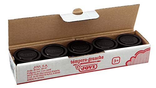 Jovi 8412027003285 - Estuche tempera 5 botes 35ml, color negro