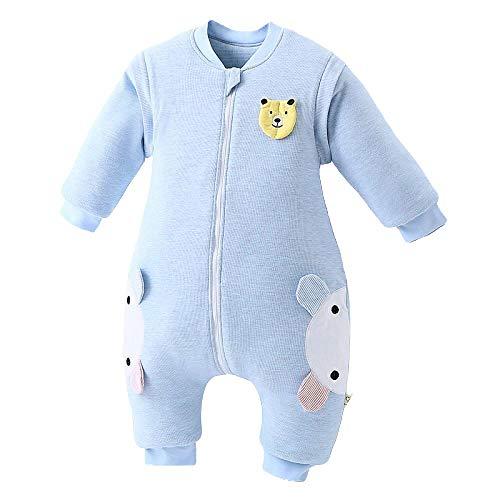Algodón Unisex Saco de Dormir,Saco de dormir para bebé, libre de químicos unisex-azul_Los 90-100cm