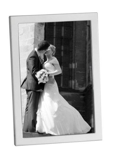 Cadre photo en argent sterling 925. Hallmark 925. Design contemporain, élégant. Cadeau idéal pour mariage ou mariage. Argent avec boîte de présentation, 14.9 x 9.8 cm