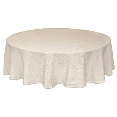 Bardwil Linens Brussels 60 x84  Oval Tablecloth, Tan