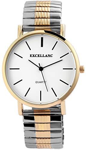 Excellanc Herren - Uhr Zugarmband Comfort Fit Analog Quarz 2700015