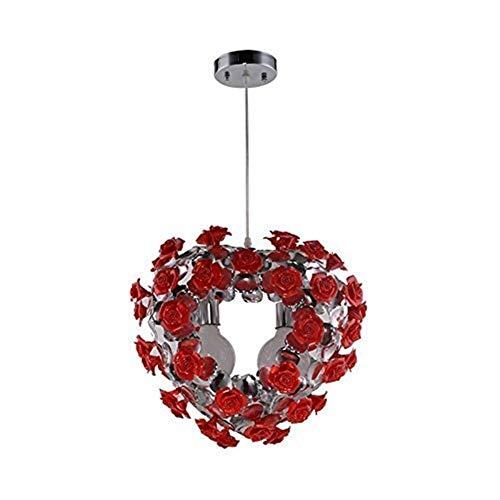WY-YAN Luces pendientes, la flor de Rose de la lámpara, dormitorio principal Luces restaurante, aluminio niños luces de la habitación de matrimonio luces de la habitación personalidad viviente luz de
