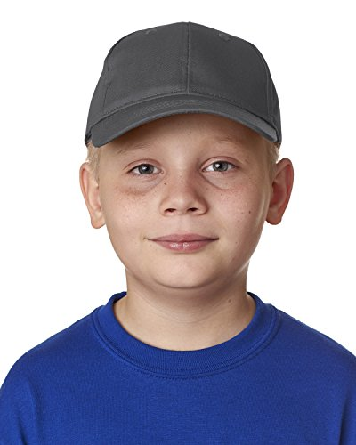 8122 UC YOUTH COTTN TWL 6 PANEL CAP CHARCOAL OS