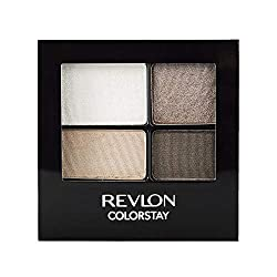 Revlon ColorStay 16 Hour Eyeshadow Quad with Dual-Ended Applicator Brush, Longwear, Intense Color Sm