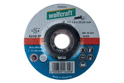 Wolfcraft 1631099 Disque d'ébarbage Diamètre 125 x 6 mm