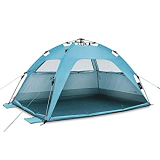 UV-Protection Quick-Up-System UV80 Sun Shelter Qeedo Quick Palm Beach Tent