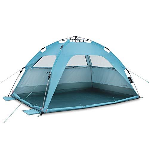 Qeedo Quick Palm Strandmuschel mit UV Schutz (UV80), kleines Packmaß, Sonnenschutz mit Quick-Up System - Blue