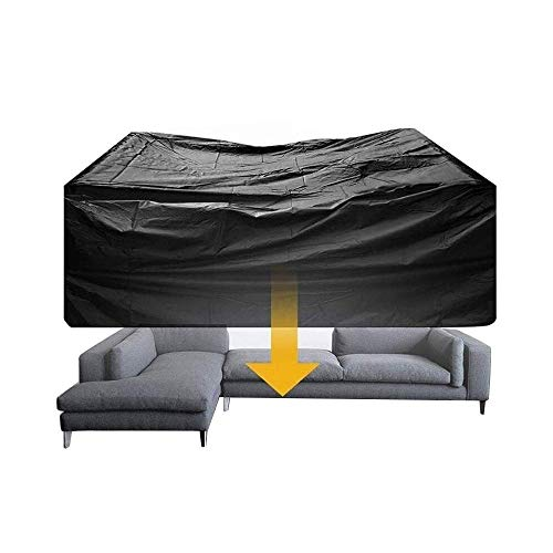 Garden Furniture Cover Protector Sofa outdoor Patio Table and Chair Waterproof Dust-proof Four Seasons Universal Black (Color : Black, Size : 100X50X80cm)