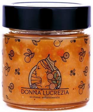 Donna Lucrezia - Marmellate Artigianali - 240 Grammi - Gluten Free, Vegana - 100% Naturale - Prodotta in Sicilia (Arancia e Cannella)