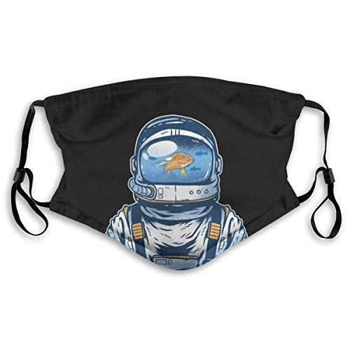 Face Scarf,Fishbowl Astronaut Mundschutz Mit Filter, Dekorative Gesichtsschutzschilde Gegen Pollenallergie,20x15cm