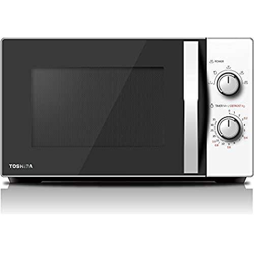 Toshiba MW-MG20P (WH) Forno a Microonde con Grill 800 W con Crispy Grill 1000 W & Cottura Combinata, 20 Lt, Bianco