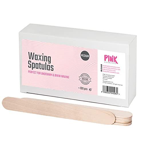 Espátula de madera para encerar de tamaño mediano 100 piezas - Para una aplicación limpia de cera o pasta de azúcar - Ideal para depilación en axilas, mejillas, bikini brasileño