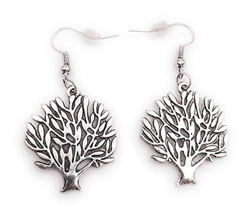 Onwomania Ohrringe Paar Baum Strauch Hecke Ohrring aus Metall Ohrschmuck