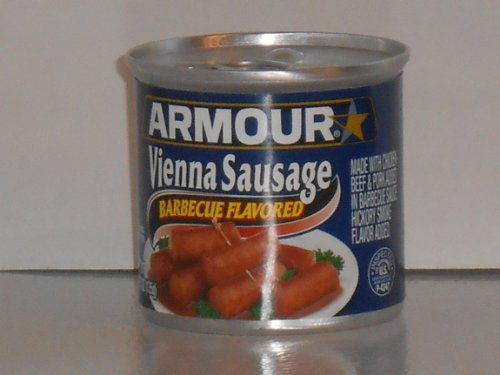 ARMOUR VIENNA SAUSAGE BARBECUE FLAVORED 4.75 oz / 10 cans get 2 FREE