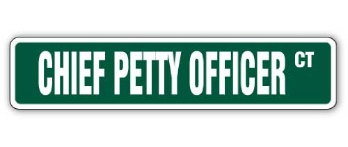 """CHIEF PETTY OFFICER Street Sign cpo canadian navy new 