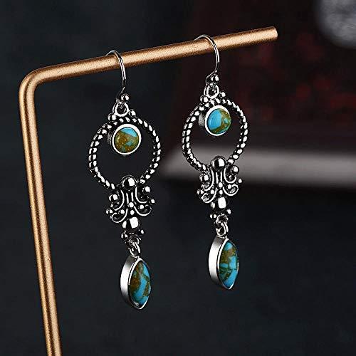 Erin Earring Pendientes Vintage Étnicos para Mujer Pendientes Azules Largos De Resina...