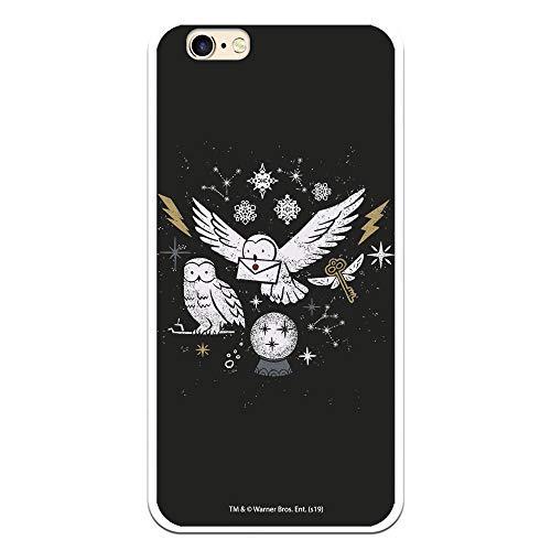 Funda para iPhone 6-6S Oficial de Harry Potter Lechuzas Silueta para Proteger tu móvil. Carcasa para Apple de Silicona Flexible con Licencia Oficial de Harry Potter.