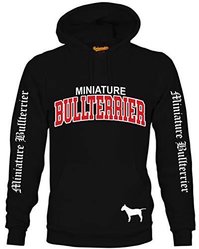 Miniature Bullterrier Mini Bully Hund Hoodie Unisex Sweatshirt Extreme Hundemotiv Größe XL