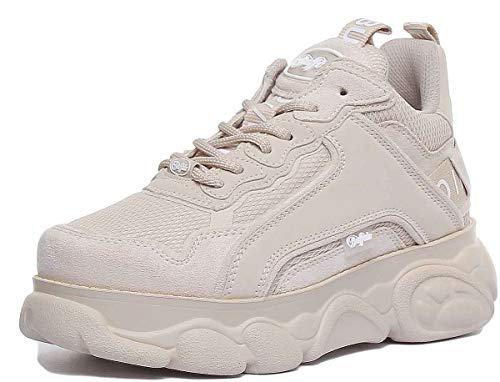 Buffalo Damen CHAI Hohe Sneaker, Beige 000, 38 EU