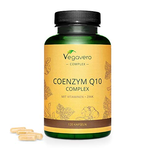Coenzyme Q10 Vegavero | 100mg HIGH Absorption Ubiquinone CoQ10 | with Natural Vitamin C + Vitamin E + Zinc | 120 Capsules | 4 Month Supply | 100% Vegan