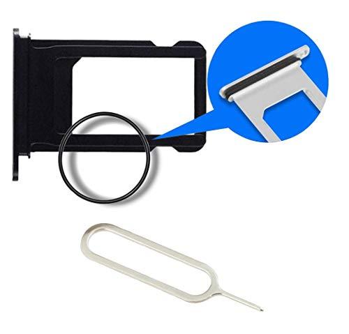 MMOBIEL Bandeja de Tarjeta SIM Ranura Compatible con iPhone 7 Plus - 5.5inch (Negro) Incl sim Pin