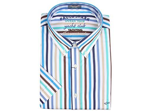Paul & Shark Yachting Kurzarm Hemd Short Sleeve Shirt Größe 46 18