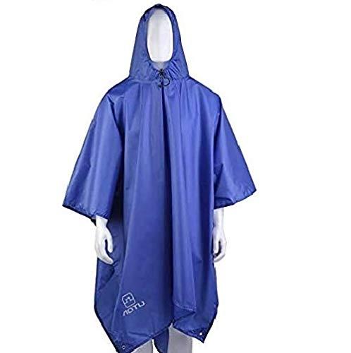Gearmax® 3 in 1 Unisex Regenponcho, Regenmantel, Poncho, Regencape, Matte, Rucksack-Abdeckung für Erwachsene (Blau)