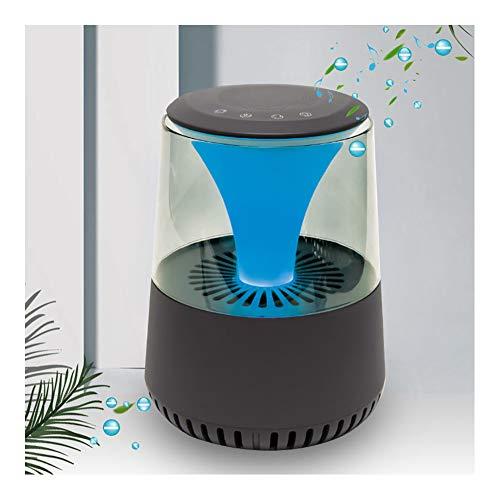 Luchtreiniger Voor Thuis Met Echte HEPA-Filters, Desktop Air Cleaner Met Kleuren LED-Licht En Bluetooth-Luidsprekerfunctie, Luchtionisatorverfrisser Voor Sigarettenrook/Allergieën/Bacteriën