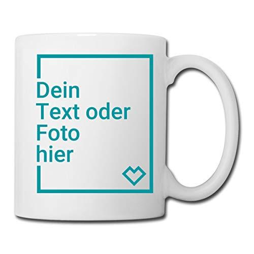 Personalisierbare Tasse Selbst Gestalten mit Foto und Text Wunschmotiv Tasse, Weiß