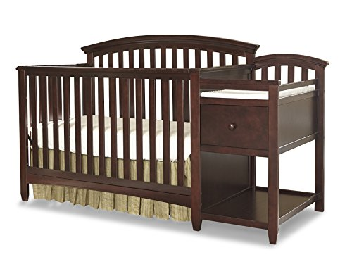 Imagio Baby Montville 4 in 1 Crib and Changer Combo with Pad, Chocolate Mist