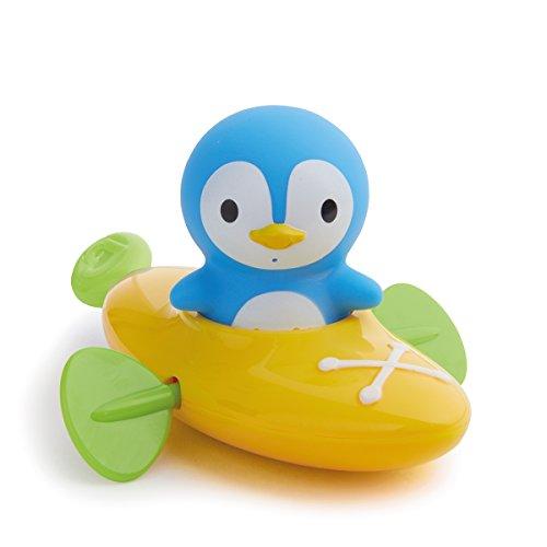 Munchkin - Paddlin Penguin, Aufziehboot mit Pinguin-Spritztier Badespielzeugset