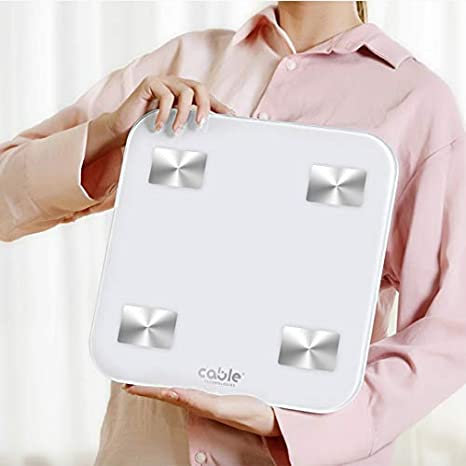 iWellness - Báscula digital con 14 funciones, pantalla LED, fitness, pesa personas digital Bluetooth con medición precisa, análisis corporal, masa ...