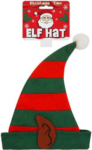 Star55 ELF Chapeau garçons Filles pour Enfant Elfe de Noël Père Noël Elf Chapeau avec Oreilles
