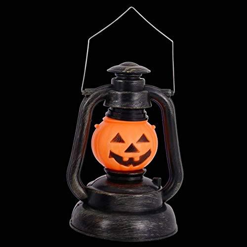 Hjbh Lámpara portátil de Queroseno de Halloween Accesorios Huecos de Calabaza Bruja Vocal Infantil portátil Decoración de Linterna Hecha a Mano (Size : Small Pumpkin)