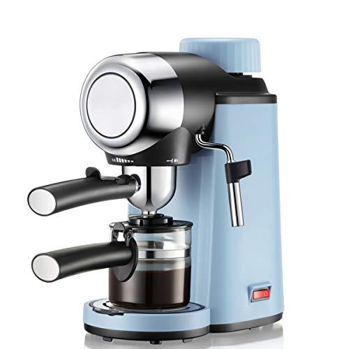 Kaffeemaschine,5 bar Dampfdruck, Hause Dampf-Kaffeemaschine Halbautomat mit Milchschaum Düse für Espresso Cappuccino Latte, 240ml
