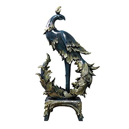 BHUIJN Statuen Und Skulpturen Dekorative Skulptur Einrichtungsgegenstände Wohnzimmer Weinschrank Büro Dekoration Tier Phoenix Dekoration M.