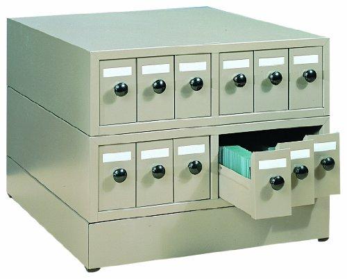 Quincy 100SCKB Beige Steel Slide Cabinet, 18.75' Length x 15.75' Width x 4-7/8' Height, 5000 Slide