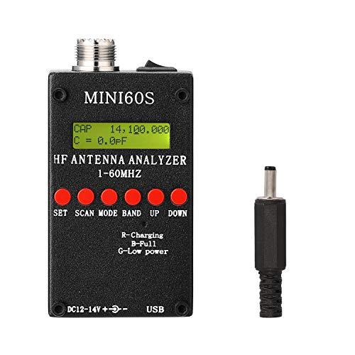 KKmoon Antennenanalysator 1-60MHz HF ANT SWR Messgerät mit BT Android APP PC Software für Amateurfunk Hobbisten