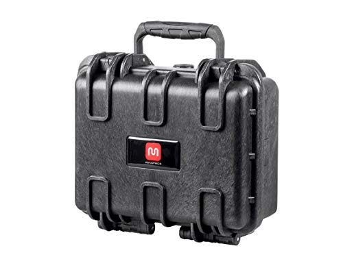 Monoprice Weatherproof/Shockproof Hard Case - Black IP67 Level dust and Water Protection up to 1 Meter Depth with Customizable Foam, 12' x 10' x 6'