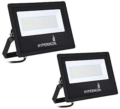 Hyperikon 150W LED Flood Light, (750 Watt Equivalent), 5000K, 100-277v, ETL, DLC, 2 Pack