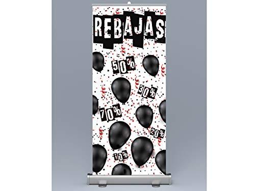 Oedim Roll up Rebajas 85x200cm | Impresión Incluida Máxima Calidad de Impresión,...