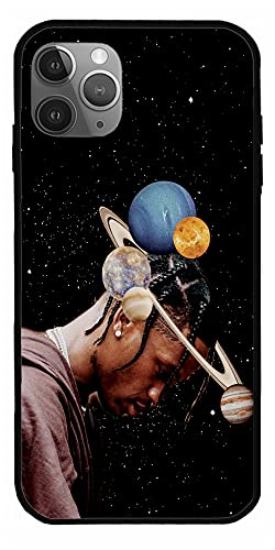 RENATEE Case Compatible with iPhone 11 Pro Birds Sing American Rapper Jackboys Astroworld Travis Scott Hoodie Hip Hot Pure Clear Phone Cases Cover Full Body