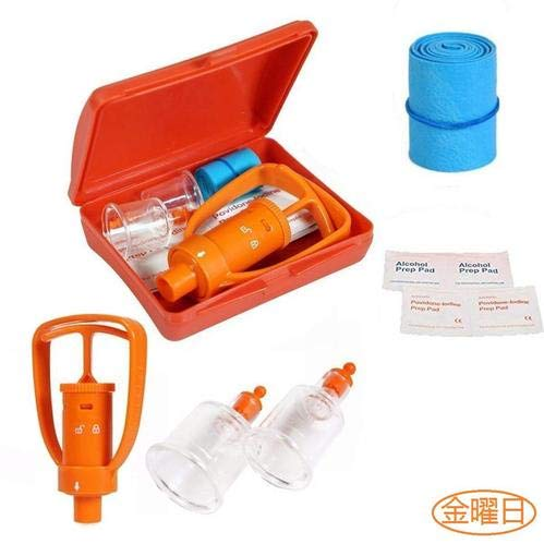 Emergency Venom Extractor Pump, First Aid Supplies Kit, Snake Bite & Bee Sting kit for Hiking, Backpacking and Camping