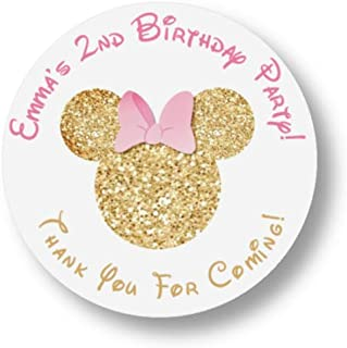 personalized minnie mouse birthday stickers