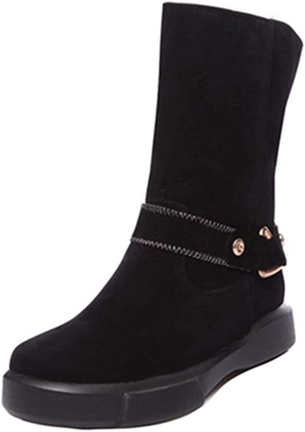 Smilice Women Winter Boots Casual Mid-Calf Warm Boots