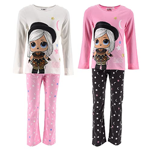 Characters Cartoons LOL Surprise - Pigiama Completo Maglietta e Pantalone - Cotone - Bambina [2055 Rosa - 9 Anni]