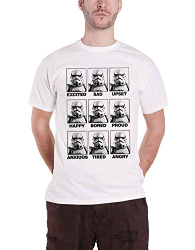 Officially Licensed Merchandise Moods of A Stormtrooper T-Shirt (White), Large