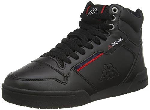Kappa Mangan, Zapatillas Altas Unisex Adulto, Negro (Black/Red 1121), 37 EU