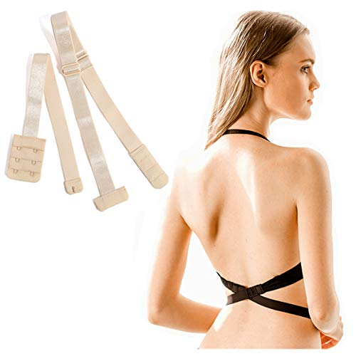 Low Back Bra Extender 2 Hook Bra Strap Converter for Women Lady Backless...